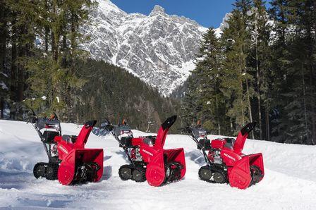 Die neuen zweistufigen Schneefräsen von HONDA: